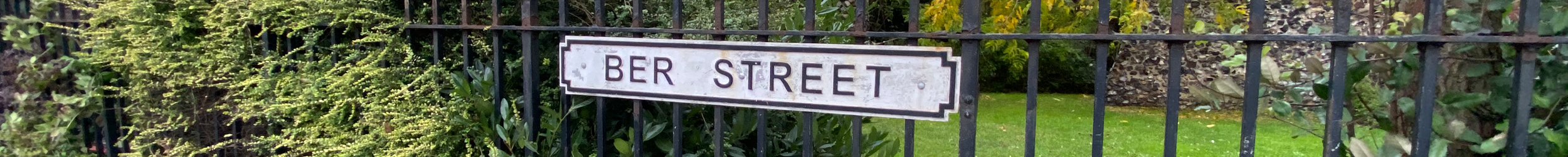 The Ber Street sign for the Ber Street Hub contact page